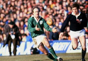 Mike Gibson on the ball for Ireland during the 1979 Five Nations
