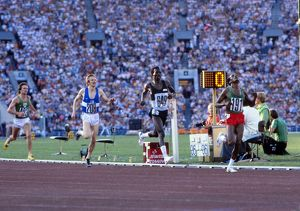 Miruts Yifter wins the 5000m gold at the 1980 Moscow Olympics