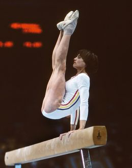 Nadia Comaneci at the 1980 Moscow Olympics