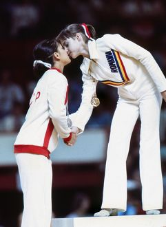 Nadia Comaneci & Nellie Kim at the 1976 Montreal Olympics