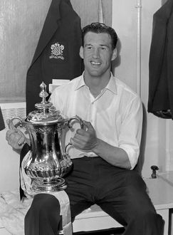 Nat Lofthouse with the FA Cup in 1958