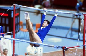 Nellie Kim at the 1976 Montreal Olympics