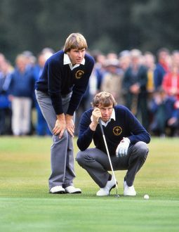 Nick Faldo and Peter Oosterhuis - 1981 Ryder Cup