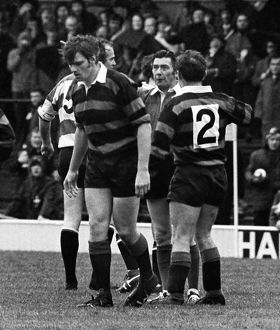 Nigel Horton is sent-off in the 1972 RFU Club Knock-Out Final