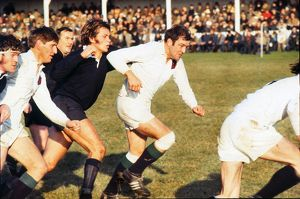 Noel Murphy and Budge Rogers in action for Major Stanley's XV in 1969
