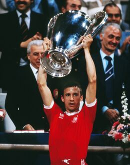 Nottingham Forest captain John McGovern lifts the 1979 European Cup