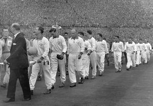 Nottingham Forest walk-out at Wembley - 1959 FA Cup Final