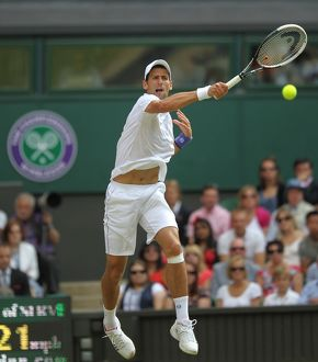 Novak Djokovic during the 2011 Wimbledon Championships