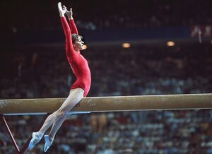 Olga Korbut at the 1976 Montreal Olympics