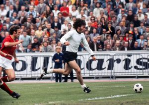 Paul Breitner on the ball in the Euro 72 final