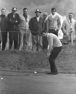 Peter Alliss chips at the 1969 Ryder Cup