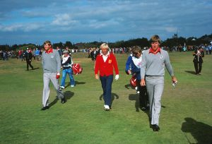 Peter Oosterhuis, Jack Nicklaus and Nick Faldo - 1977 Ryder Cup