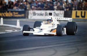 Peter Revson on the way to victory at the 1973 British Grand Prix