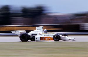 Peter Revson on his way to winning the 1973 British Grand Prix at Silverstone.
