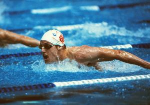 Phil Hubble at the 1982 Brisbane Commonwealth Games