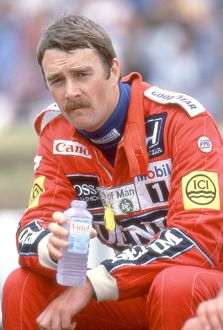 Race-winner Nigel Mansell at the 1987 British Grand Prix