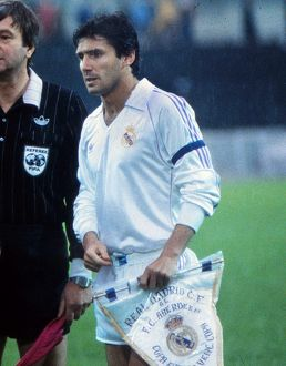 Real Madrid captain Juanito - 1983 Cup Winners' Cup Final
