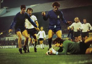 Real Madrid and Derby clash in the 1975/6 European Cup