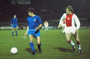 Real Madrid's Amancio and Ajax's Piet Keizer