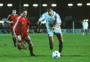 Real Madrid's Isidro and Aberdeen's John McMaster - 1983 Cup Winners&#39