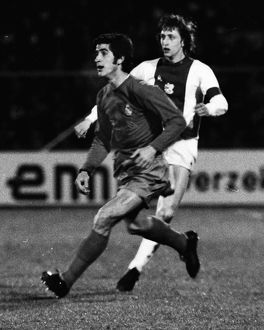 Real Madrid's Jose Luis and Ajax's Johan Cruyff