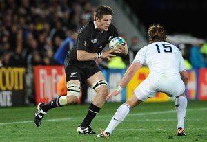 Richie McCaw on the ball during the 2011 World Cup Final
