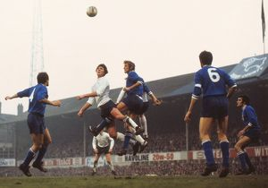 Roger Davies and Francesco Morini jump for the ball in the 1973 European Cup semi-final