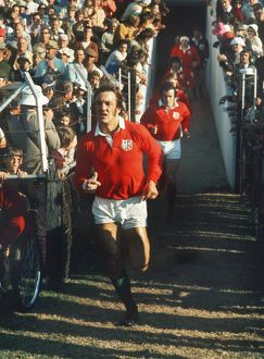 Roger Uttley runs out for the Third Test against South Africa in 1974