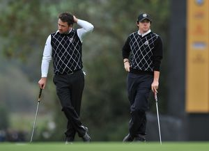 Rory McIlroy and Graeme McDowell at the 2010 Ryder Cup