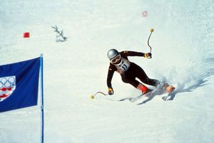 Rosi Mittermaier at the 1976 Innsbruck Winter Olympics