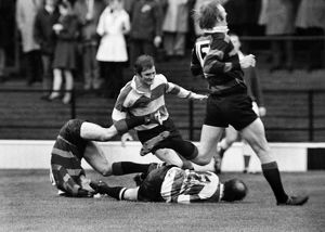 Roy Morris scores for Gloucester in the 1972 RFU Club Knock-Out Final