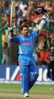 Sachin Tendulkar at the 2011 World Cup