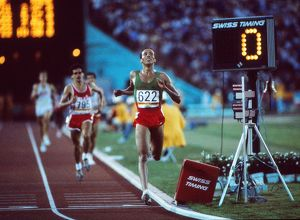 Said Aouita wins 5000m gold at the 1984 Los Angeles Olympics
