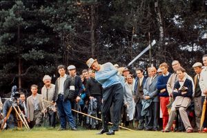 Sam Snead tees-off at the 1969 Ryder Cup