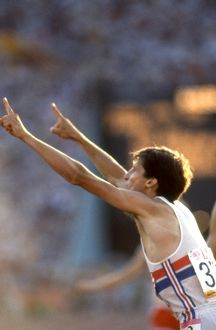 Seb Coe gestures to the press that he is 'no