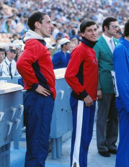 Seb Coe and Steve Ovett at the 1980 Moscow Olympics