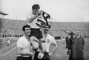 Spurs captain Danny Blanchflower after the 1962 FA Cup Final