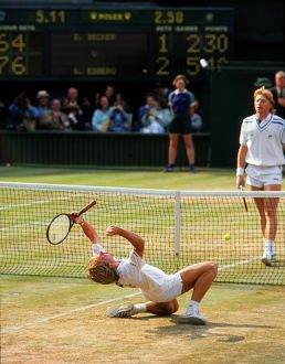 Stefan Edberg wins the 1988 Wimbledon Men's Singles title