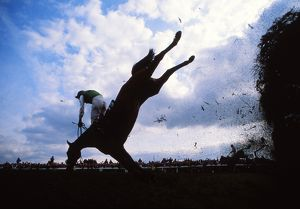 Strands of Gold and Peter Scudamore fall at Bechers Brook 1988