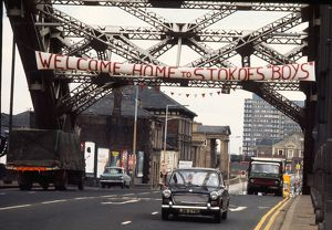 Sunderland homecoming banner for 1973 FA Cup winners