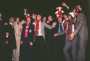 Sunderland players during their victorious 1973 FA Cup homecoming.