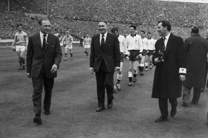 The teams walk out for the 1962 FA Cup Final