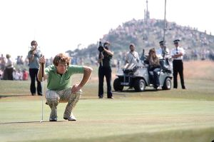 Tom Watson on the final day of the 1977 Open Championship