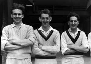 Tommy Greenhough, G. Blight, Alan Wilson - Lancashire C.C.C.