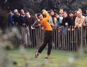 Tony Jacklin strikes a tee-shot at the 1969 Ryder Cup