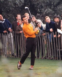 Tony Jacklin tees of at the 1969 Ryder Cup