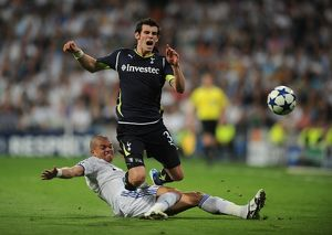 Tottenham's Gareth Bale is fouled during the Champions League quarter-final