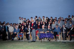 USA captain Sam Snead makes a speech at the presentation of the 1969 Ryder Cup.
