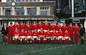 The Wales team that faced Argentina in 1976