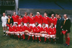 The Wales team that faced New Zealand in Cardiff in 1972